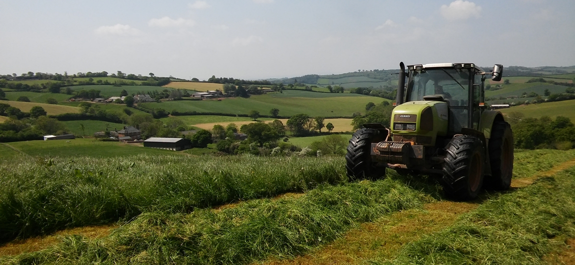 SIlage making on the farm by Holly Water Holidays.