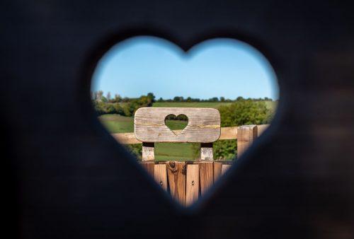 Views through the hearts!