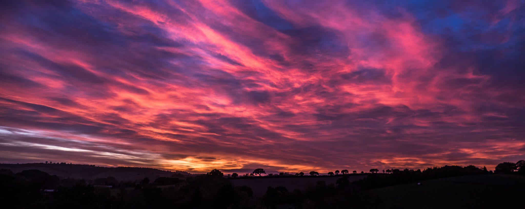 Sunset at Holly Water Holidays